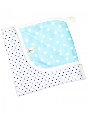 Blue Dotty Comforter