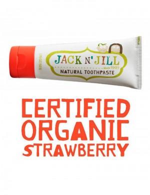 Pasta de dinti organica Jack n' Jill cu aroma de capsuni