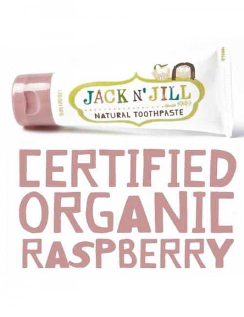 Pasta de dinti organica Jack n' Jill cu aroma de zmeura